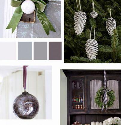 Feestdagen   Have a 'Smokey Grey' Christmas, kerst styling in grijstinten