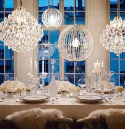 Feest styling | Winter feest en bruiloft decoratie in wintersfeer