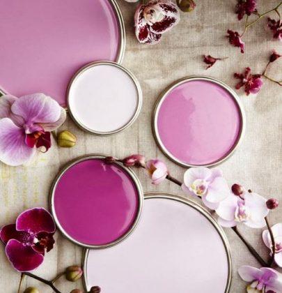 Interieur   Radiant Orchid = kleur van het jaar 2014!