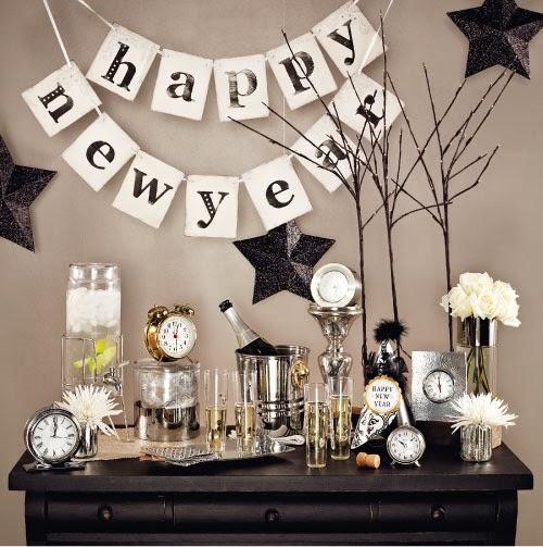 Feestdagen oud nieuw special feestelijke decoratie tips voor de jaarwisseling stijlvol - Feestelijke bar ...