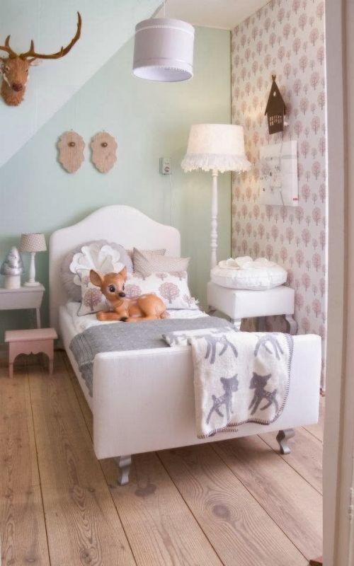 Interieur kids mintgroen babykamer kinderkamer inspiratie deel 1 stijlvol styling - Slaapkamer meisje jaar oud ...