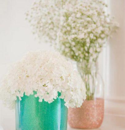 DIY | Trendy glitter vazen maken