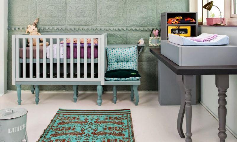 Babykamer Behang Groen : Interieur & kids Mintgroen - Babykamer ...