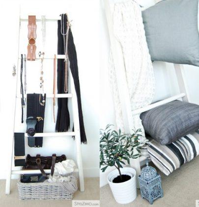 Interieurtrends   De decoratieve houten ladder