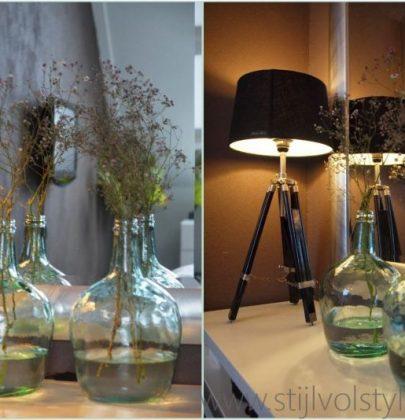 Interieurtrend | Vazen, kruiken & flessen van gekleurd glas