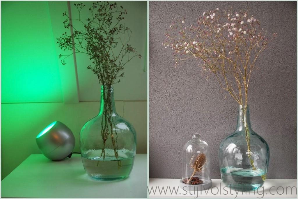 Interieurtrend vazen kruiken flessen van gekleurd glas stijlvol styling woonblog - Foto van decoratie ...