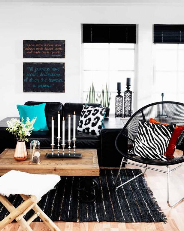 Interieur interieur trend koper hout staal leer en textiel stijlvol styling woonblog - Scheiding in hout deco interieure ...