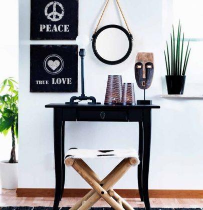 Interieur   Interieur trend – koper, hout, staal, leer en textiel.