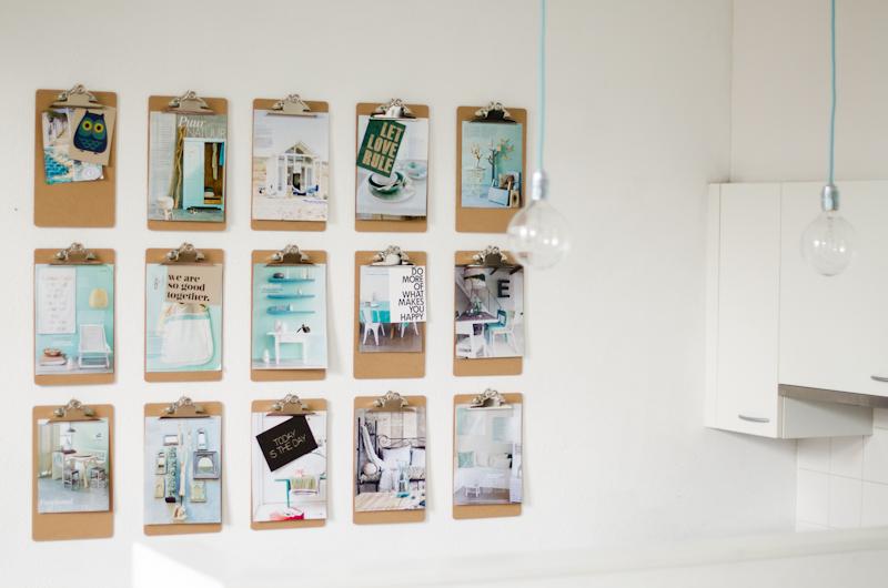 diy klemborden aan de wand stijlvol styling woonblog