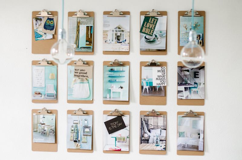 Diy klemborden aan de wand stijlvol styling woonblog - Photo deco kantoor ...