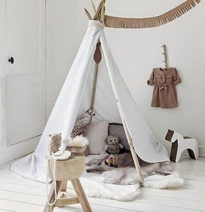 Interieur+DIY | Wigwam of Tipi in de kinderkamer trend