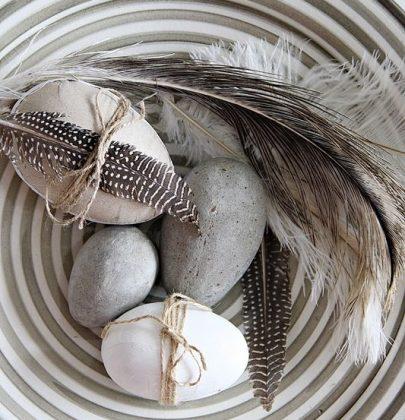 Feestdagen   Paas decoratie met eieren