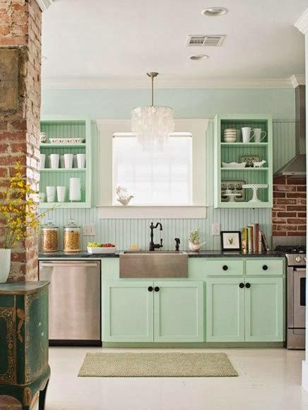 Interieur kleur mintgroen in jouw interieur incl shoptips stijlvol styling woonblog - Kleur keuken muur ...