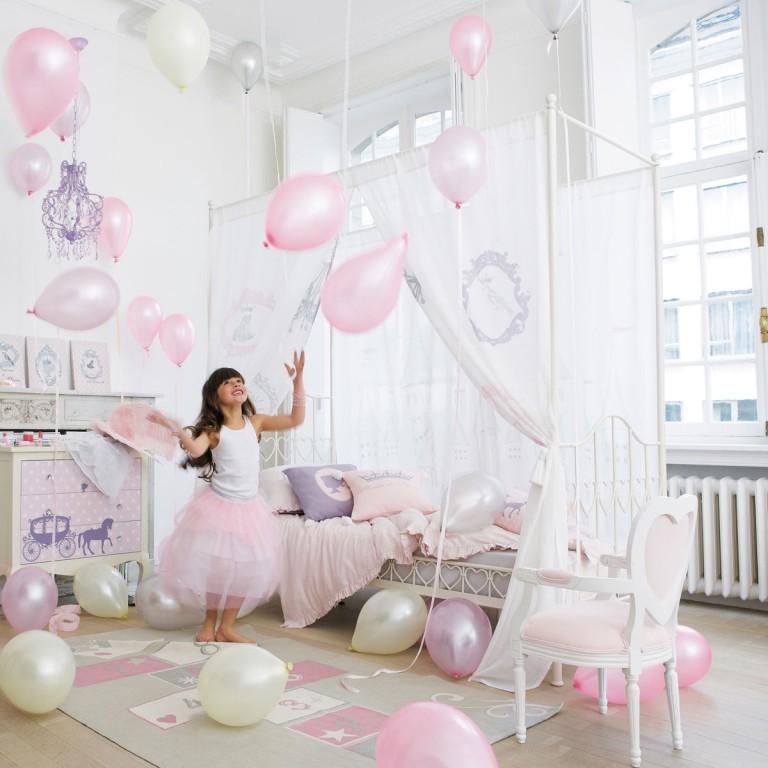 Interieur kids baby en kinderkamer inspiratie voor kleine prinsessen balletdanseressen - Thema slaapkamer meisje ...