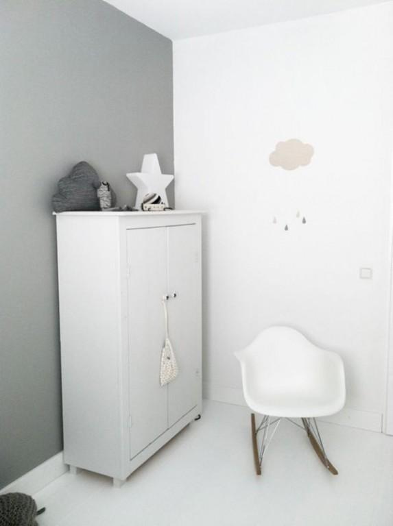 Interieur kids babykamer en kinderkamer in grijs en wit stijlvol styling woonblog - Muur kleur babykamer meisje ...