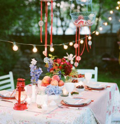 Feest Styling   Oranje feest   Stijlvolle tuin feest versiering