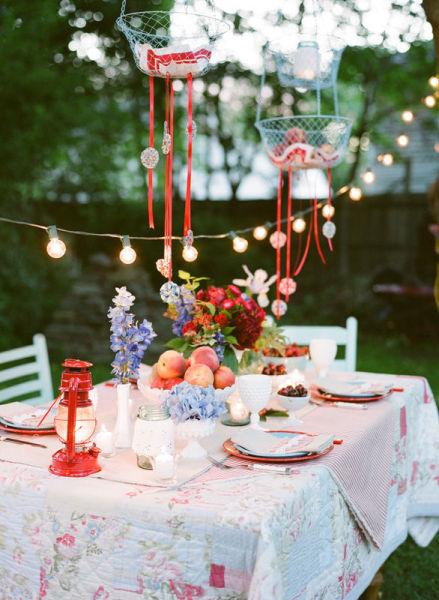 Feest styling oranje feest stijlvolle tuin feest versiering stijlvol styling lifestyle - Gartenparty dekoration ...