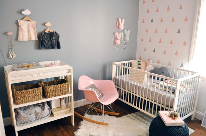 Interieur kids hippe babykamer in pasteltinten - Comment decorer la chambre de bebe ...