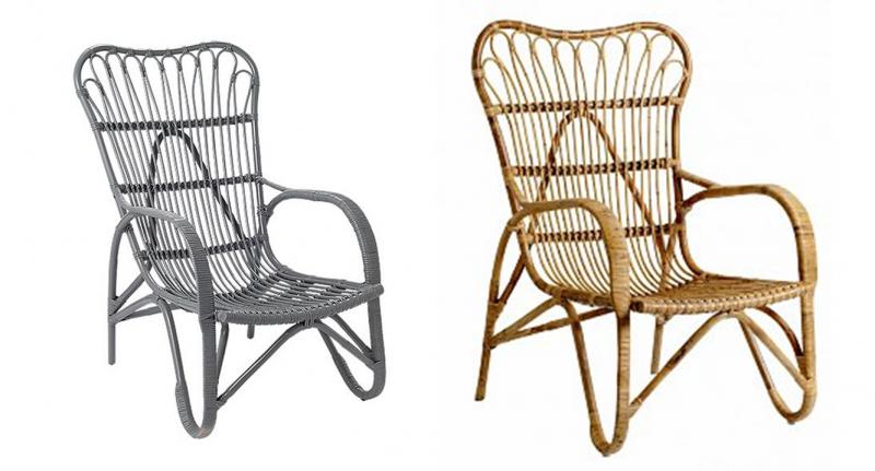 Rotan bamboo stoel! u2018layed backu2019 zitten en relaxen, een fijn plaid ...