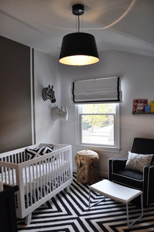 Interieur kids zwart wit babykamer en kinderkamer for Interieur zwart wit