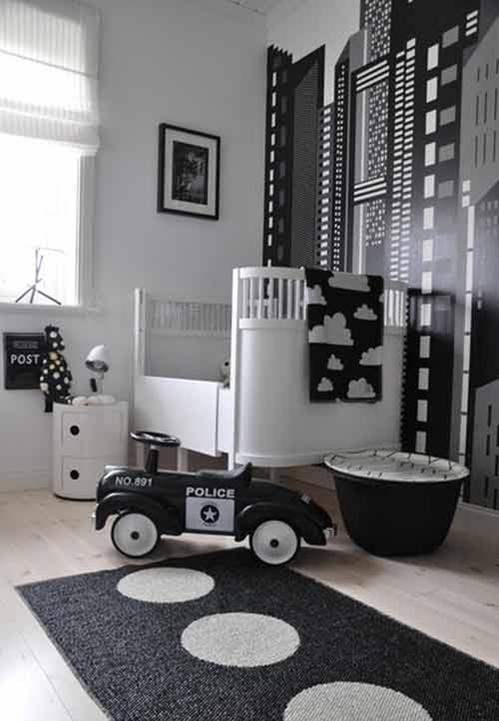 interieur & kids | zwart + wit babykamer en kinderkamer • stijlvol, Deco ideeën