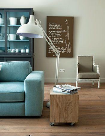 Kleur interieur turquoise interieur styling stijlvol styling woonblog - Taupe kamer en wit ...