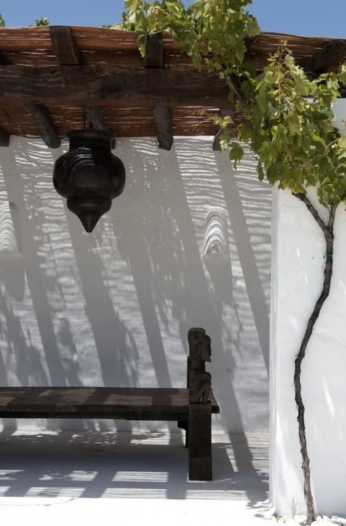 Tuin inspiratie tuin inrichten in ibiza stijl stijlvol for Paredes exteriores decoradas
