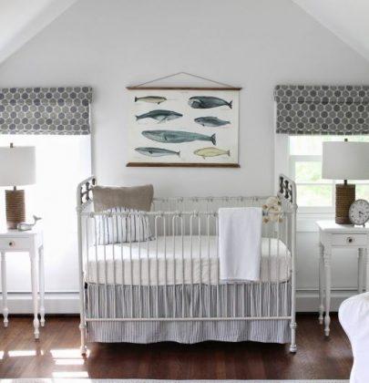 Interieur & kids | Neutrale babykamer met rustgevende zee sfeer