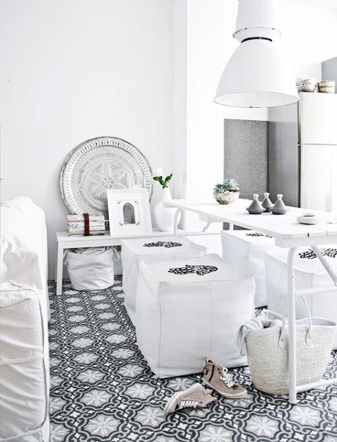 Interieur portugese en marokkaanse tegels stijlvol styling woonblog - Tuin marokkaans terras ...