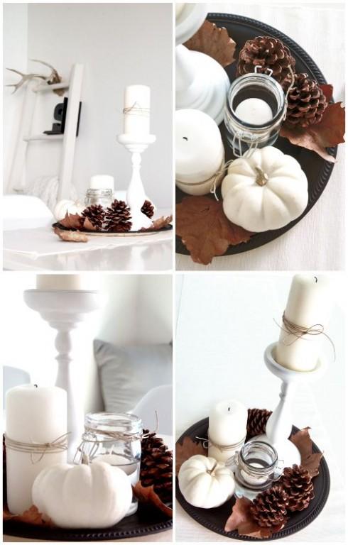 Wonen seizoenen herfst decoratie met pompoenen en for Decoratie herfst