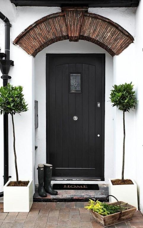 Buitenleven decoratie voor bij de voordeur welkom thuis stijlvol styling woonblog - Entree decoratie ...