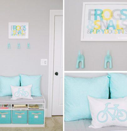 Interieur & kids | Babykamer in turquoise en licht grijs