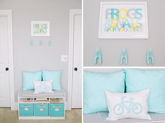 interieur & kids | babykamer in turquoise en licht grijs, Deco ideeën