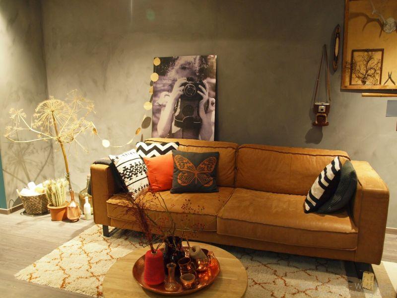 Interieur  Woonkamer inrichten in de stijl robuust, retro & eenvoud...