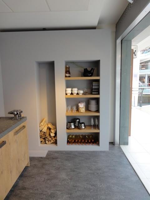 Interieur nis in de muur stijlvol styling woonblog - Badkamer kleur idee ...