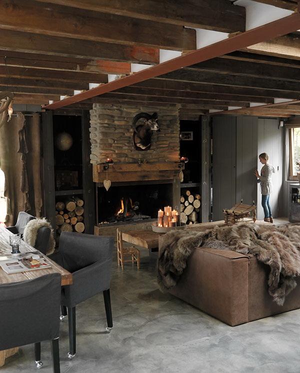 Woonkamer Rustiek : Binnenkijken Rustiek huis in wintersfeer bij ...