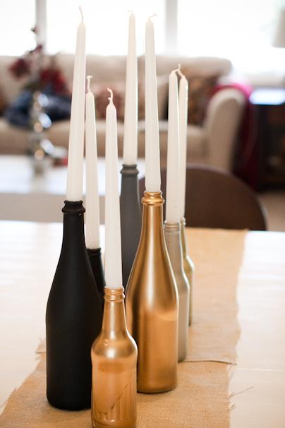 Diy feest tafel idee schilder zelf vazen en flessen stijlvol styling woonblog - Idee voor volwassenen ...