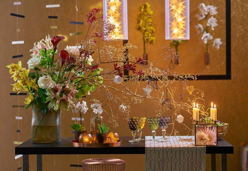 Groen wonen kersttrends 2014 planten bloemen kerstdecoratie stijlvol styling lifestyle for Decoration de noel luxe