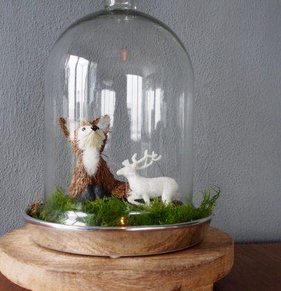 Feestdagen   DIY Kerst stolp inspiratie