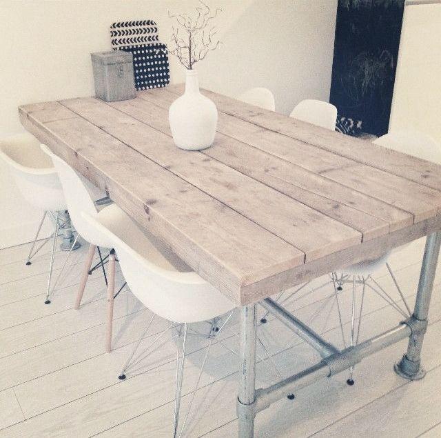 Interieur eigentijds wonen met steigerhout meubels stijlvol styling woonblog - Exterieur ingang eigentijds huis ...