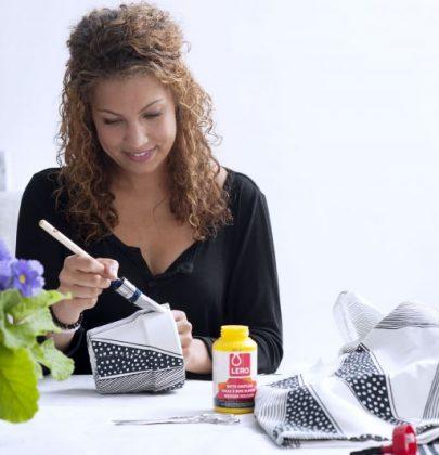 DIY | Bloempot bekleden met stof