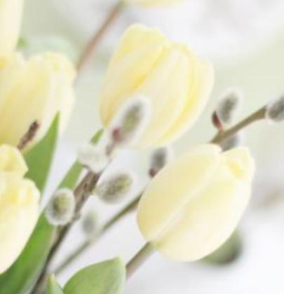 Groen wonen   Paas decoratie met bloemen