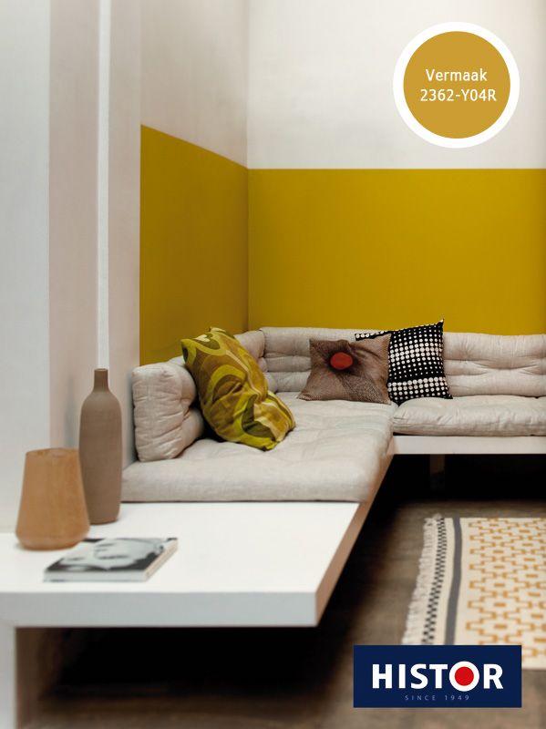 Kleur interieur geel brengt het zonnetje in huis stijlvol styling woonblog - Kleurkaart kleur interieur verf ...