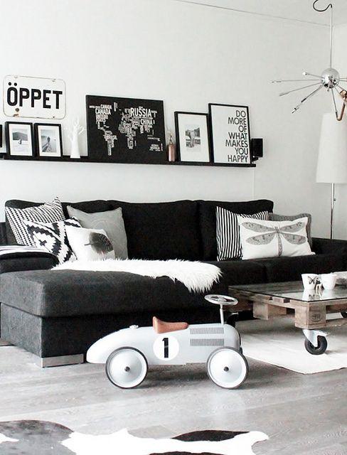 woonkamer zwart grijs artsmediafo
