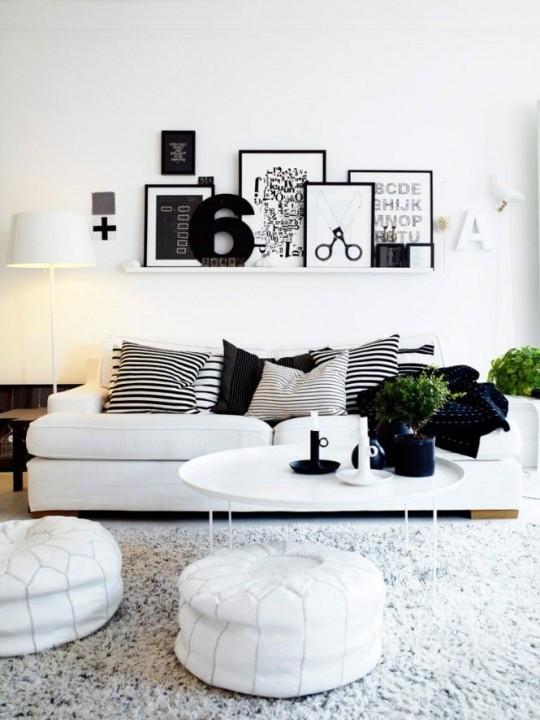 interieur inspiratie  x een stijlvolle zwart wit woonkamer, Meubels Ideeën