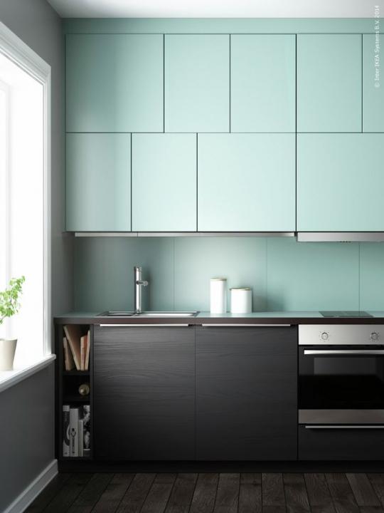 Interieur inspiratie mintgroen in de keuken stijlvol for Interieur kleuren 2015