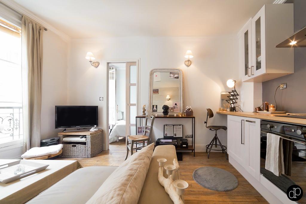 Binnenkijken klein wonen op 25m2 in parijs stijlvol styling woonblog - Indeling m studio ...