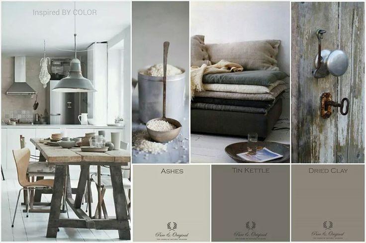 Kleur interieur haal de natuur naar binnen met kalkverf for Interieur inspiratie kleur