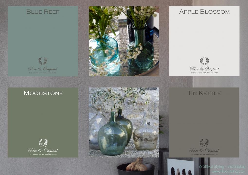Kleur interieur haal de natuur naar binnen met kalkverf stijlvol styling woonblog - Kleur trend salon ...