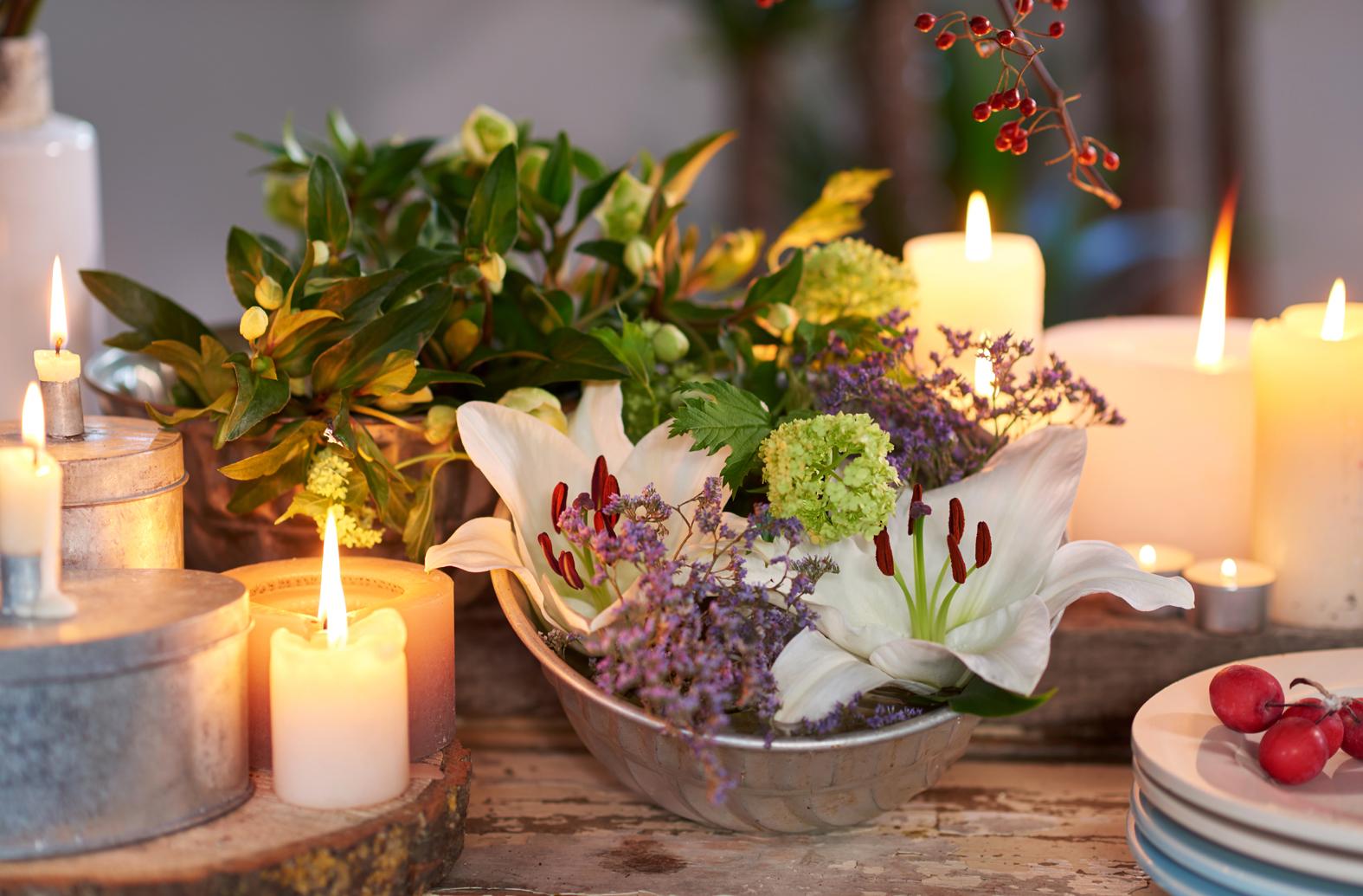 Groen wonen kerst decoratie planten bloemen trends for Bloemen decoratie